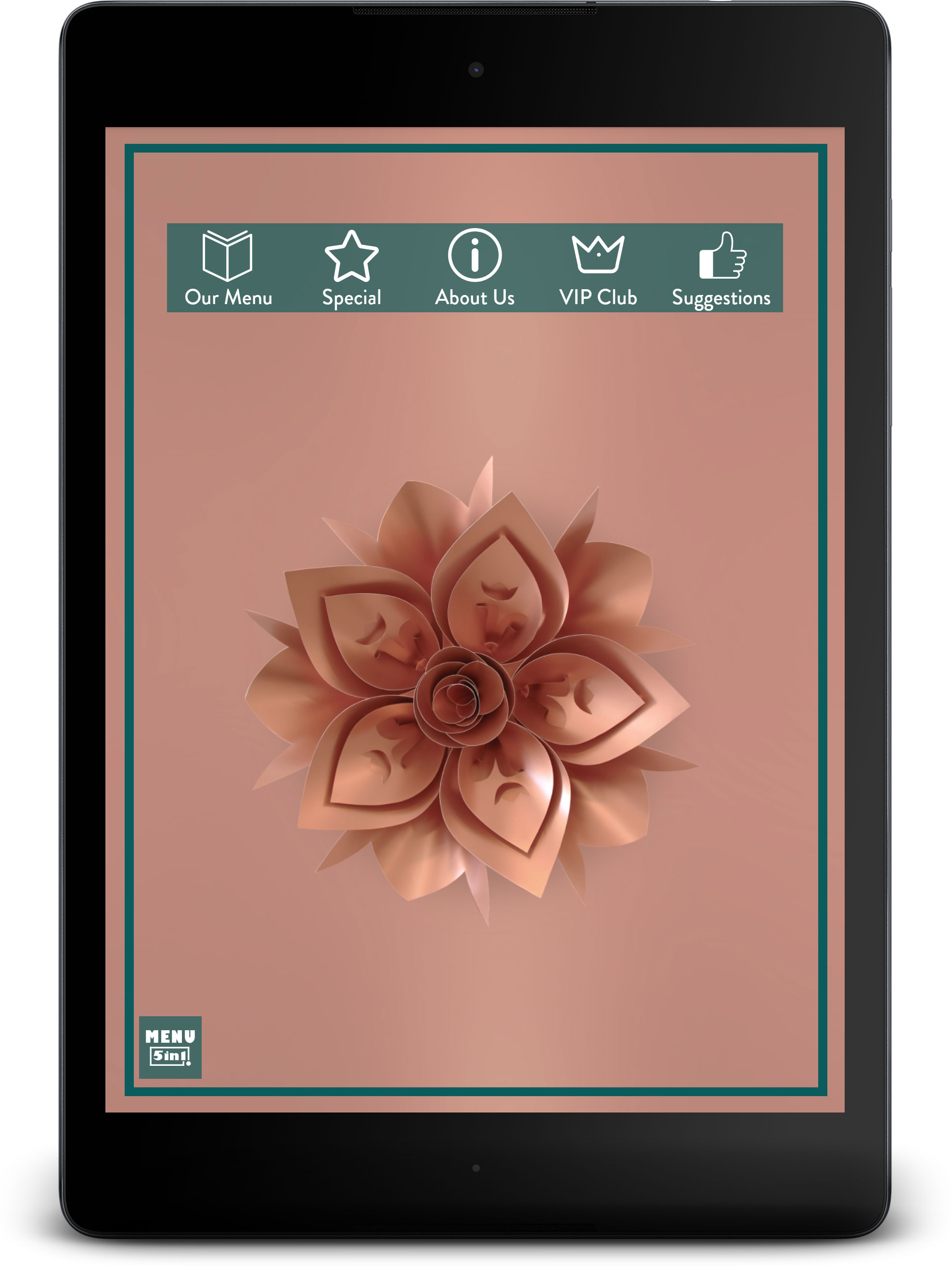Cham Solutions & Programs - Menu 5in1 On Tablet Design Options
