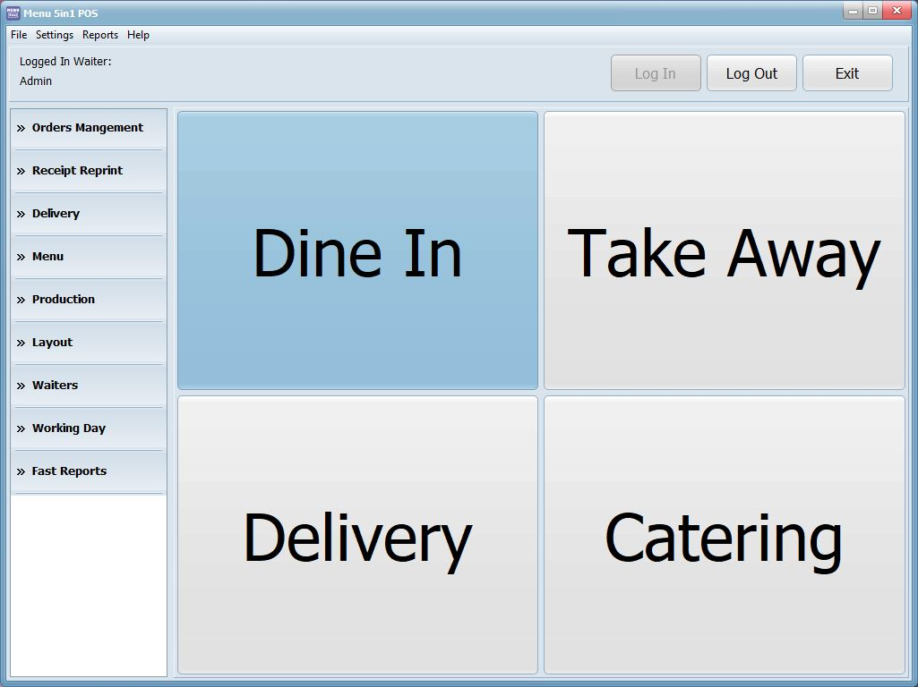 Menu 5in1 POS System