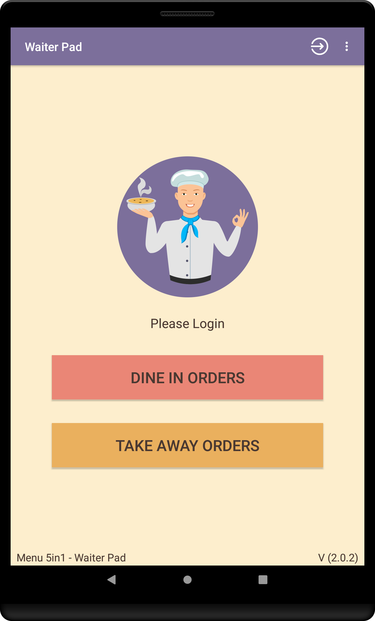 Cham Solutions & Programs - Menu 5in1 Waiter Pad