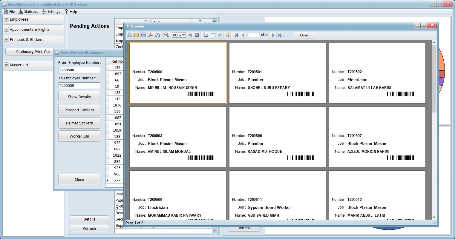 Smart HR System - Work ID Printing Management